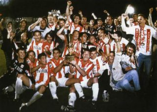 Il Vicenza che vince la Coppa Italia nel 1996/1997